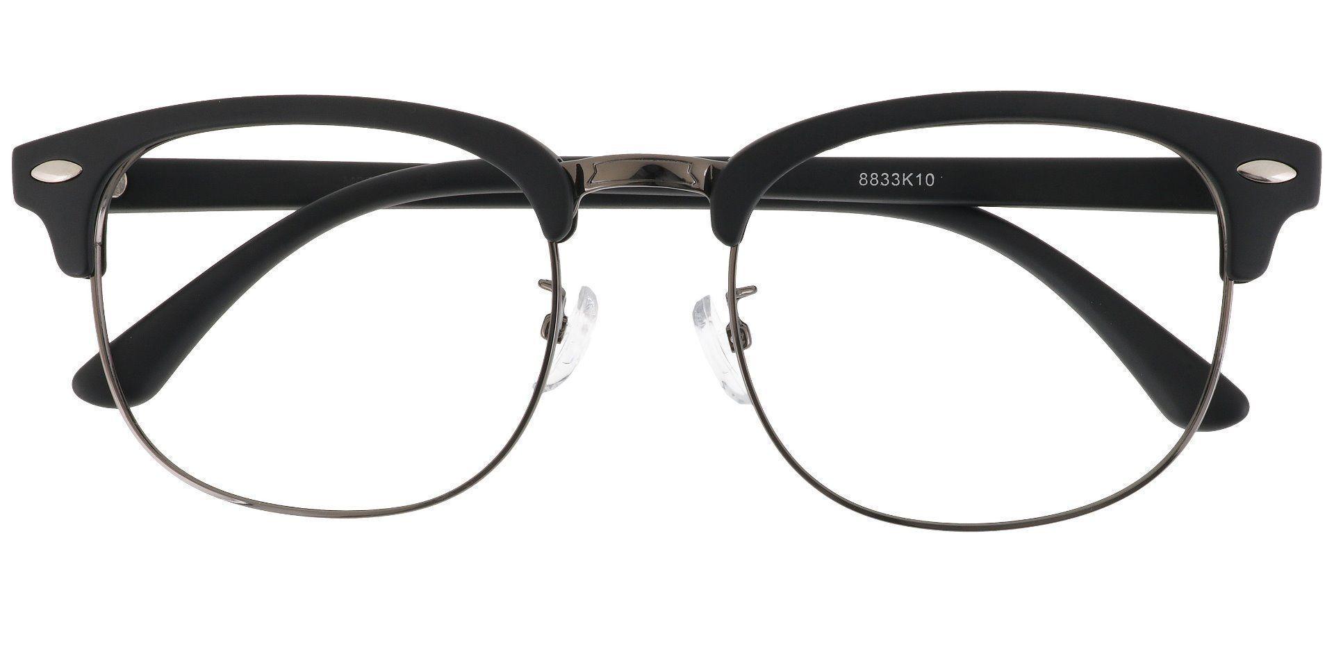 Tulsa Browline Prescription Glasses - Black