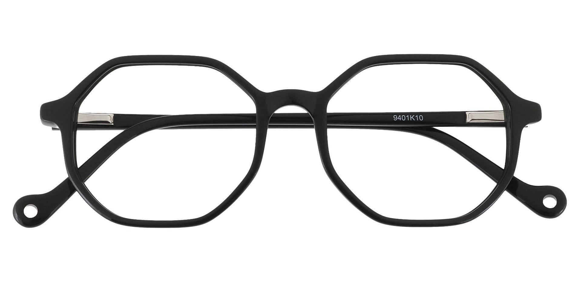 Sunset Geometric Prescription Glasses - Black