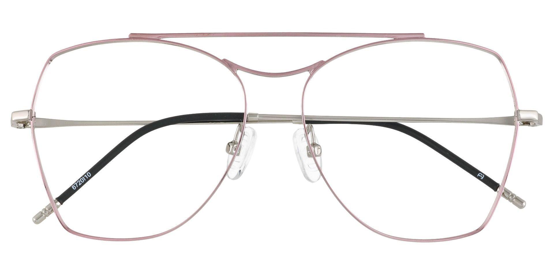 Blaine Aviator Prescription Glasses - Pink