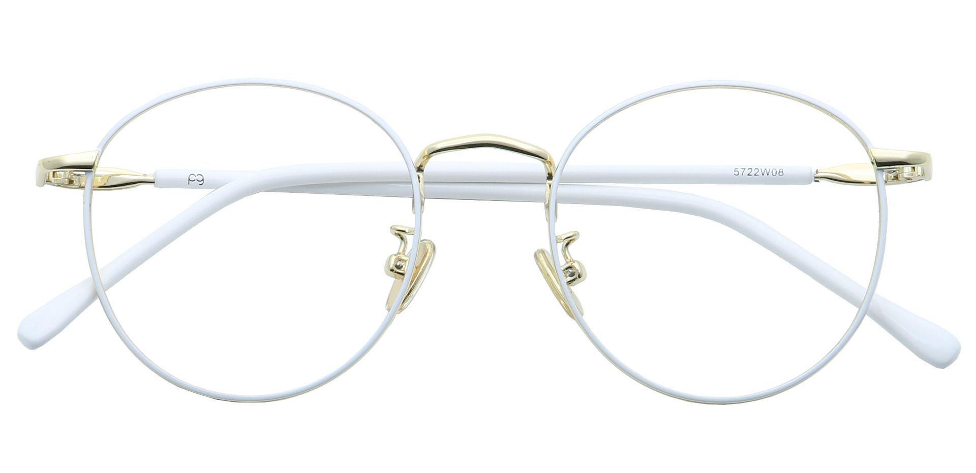 Metro Round Reading Glasses - White
