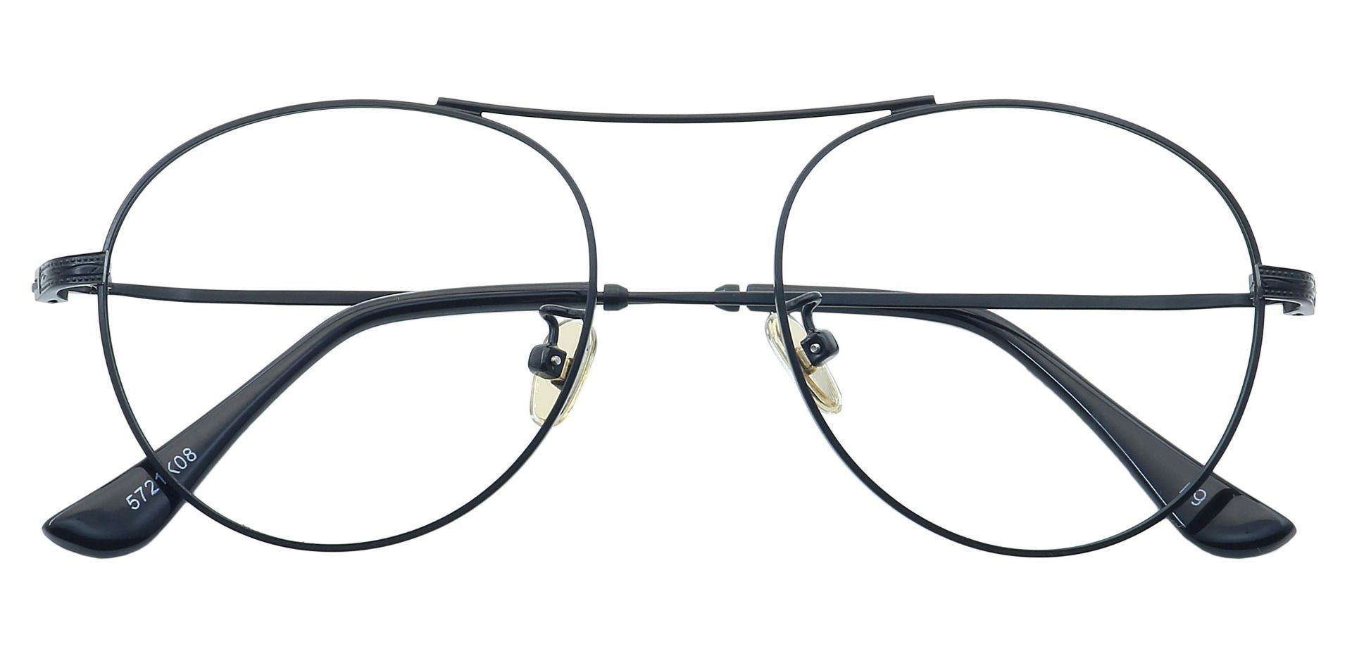 Finn Round Prescription Glasses - Black