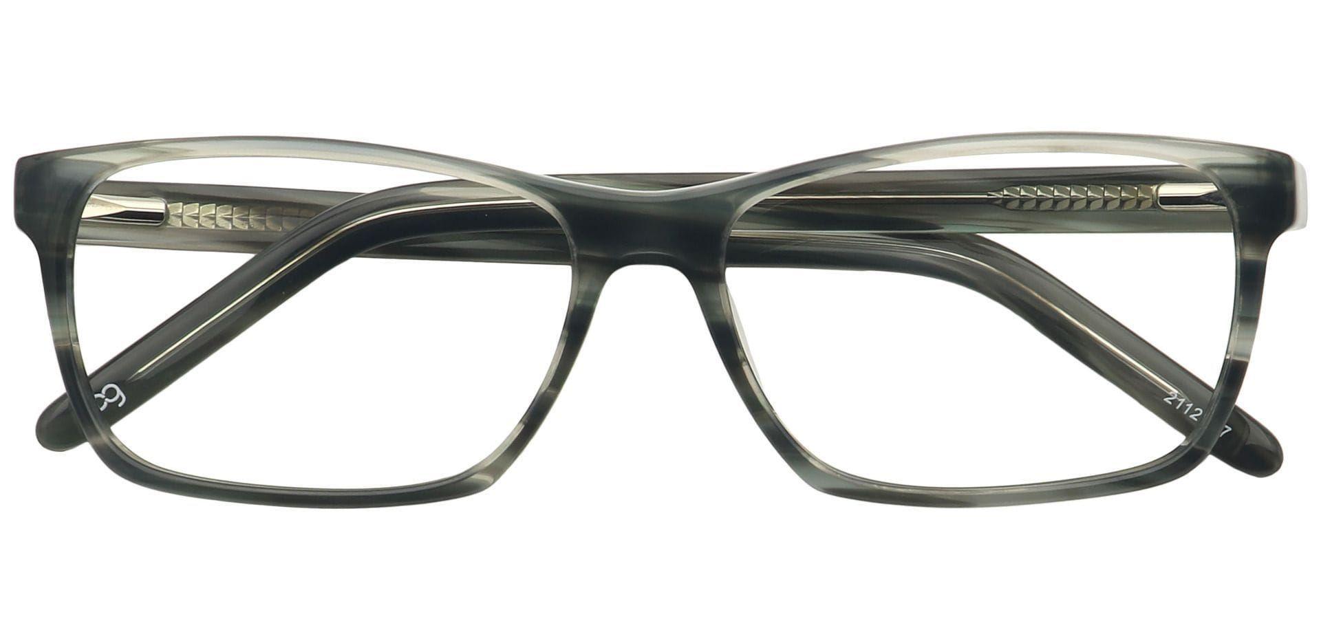 Dacre Rectangle Prescription Glasses - Gray