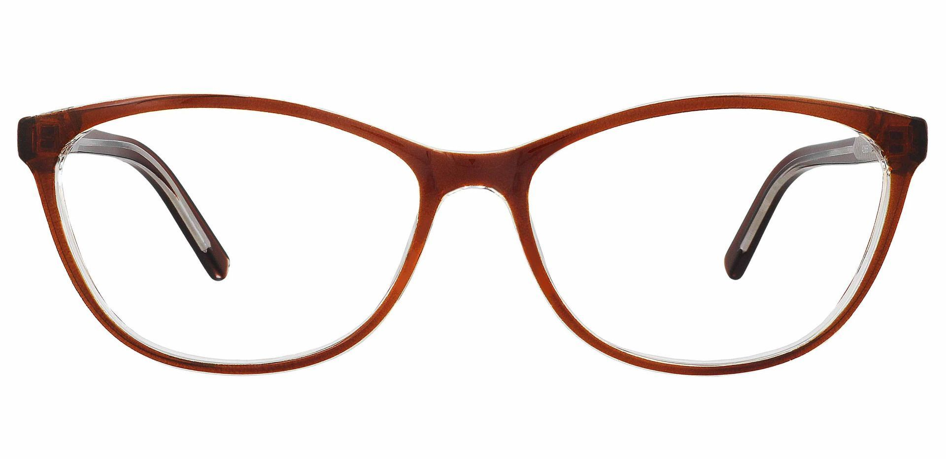 Sally Oval Blue Light Blocking Glasses - Brown