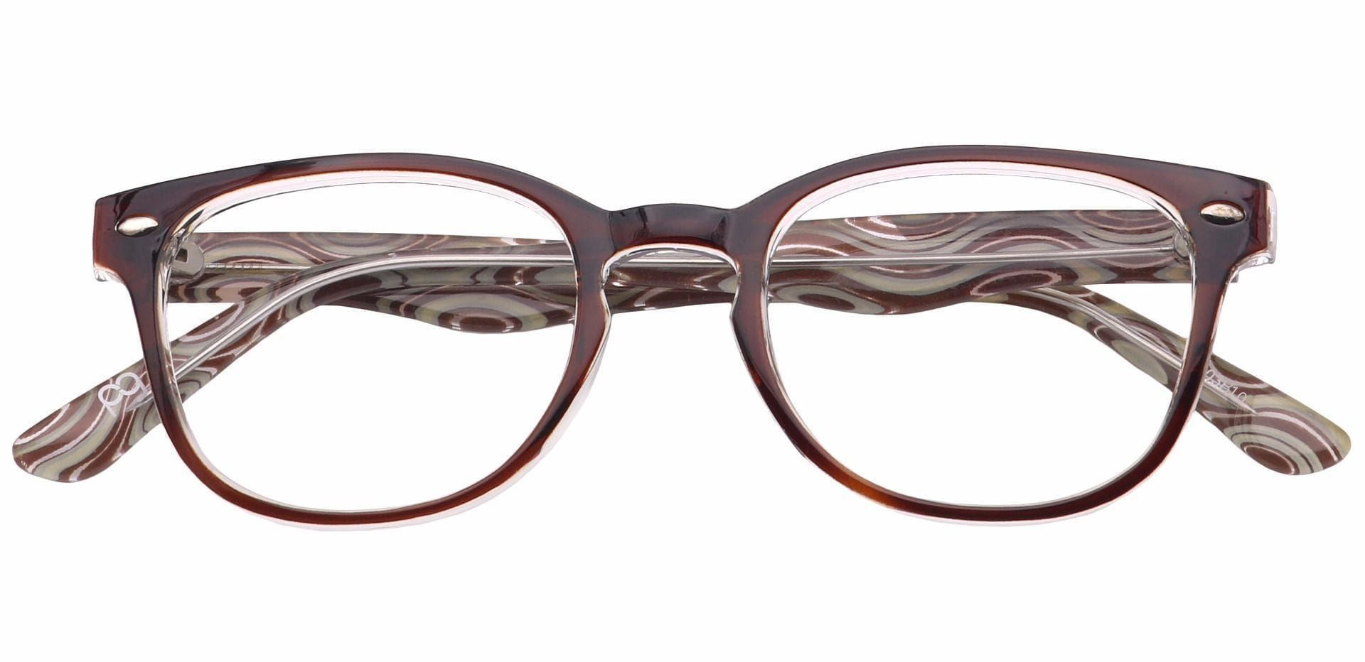 Swirl Classic Square Blue Light Blocking Glasses - Brown