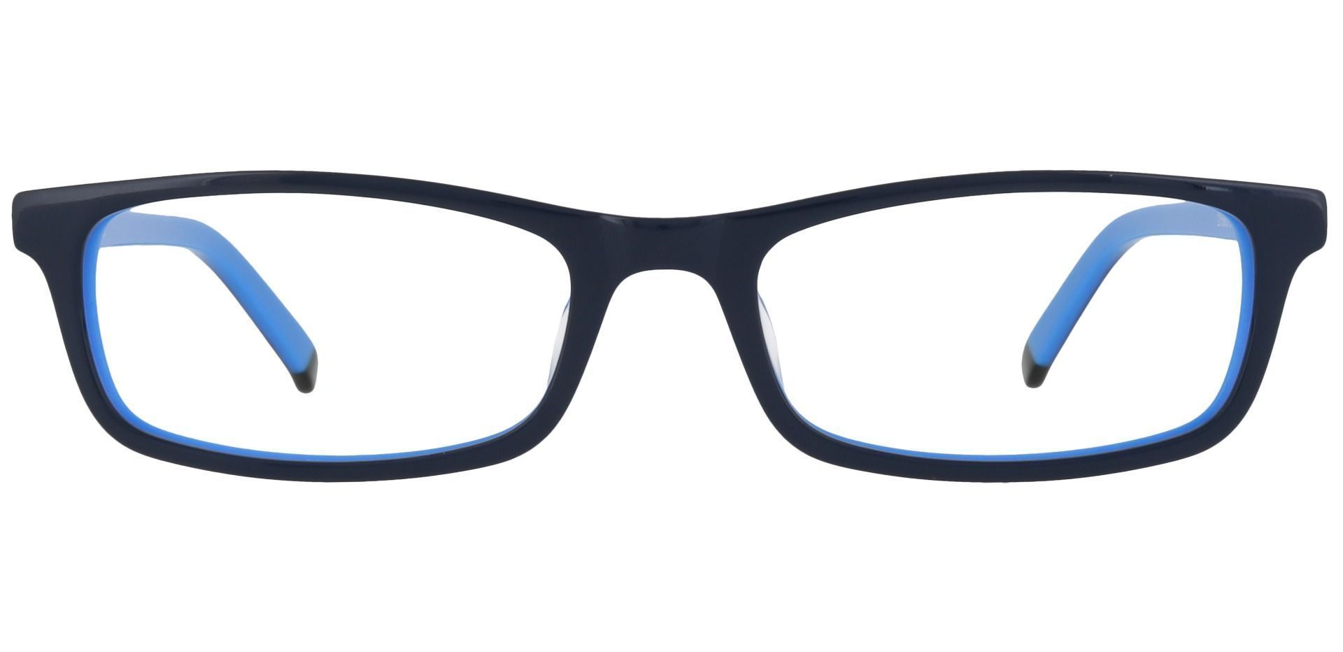 Palisades Rectangle Single Vision Glasses - Blue