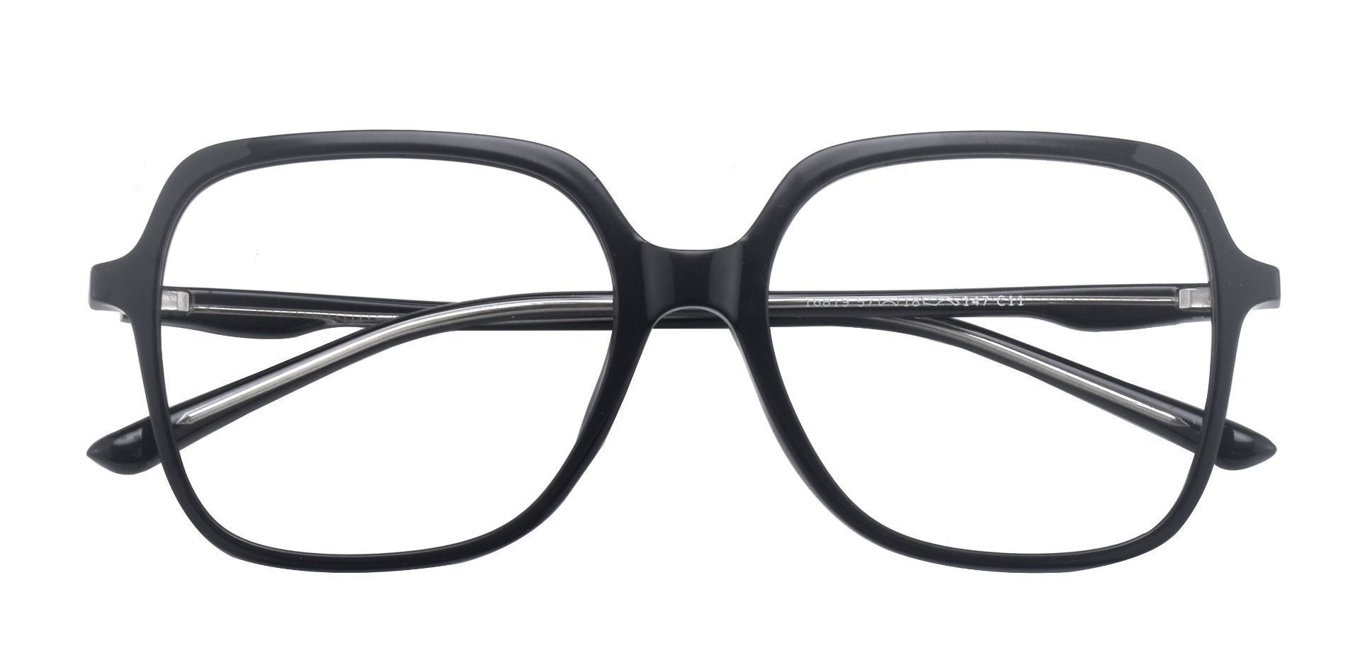 Zion Square Prescription Glasses - Black