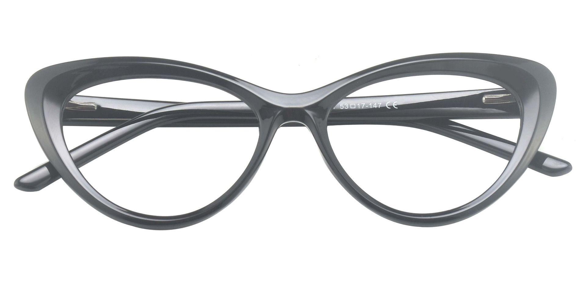 Gemini Cat Eye Prescription Glasses - Black