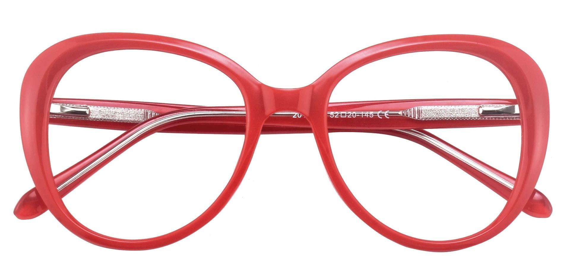 Sheridan Oval Prescription Glasses - Red