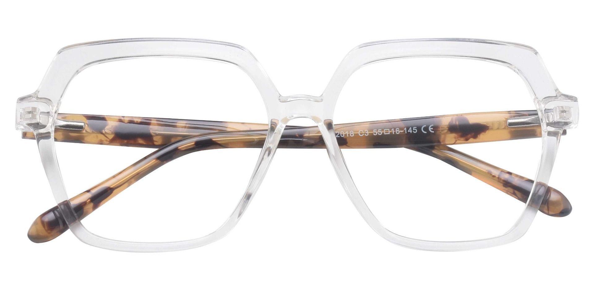 Regent Geometric Prescription Glasses - Clear