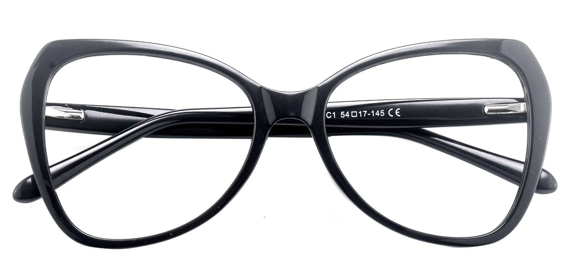 Kayla Geometric Prescription Glasses - Black