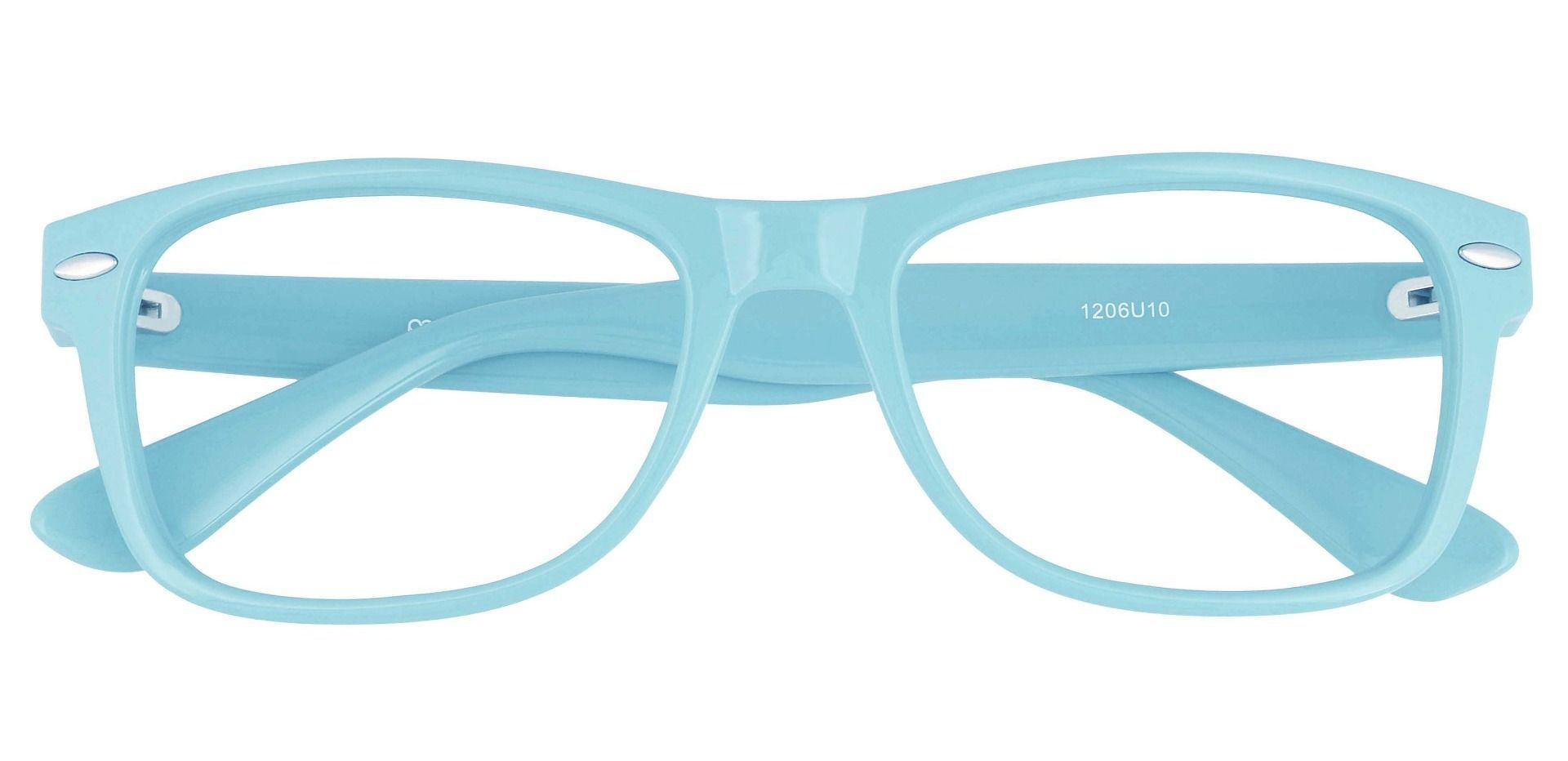 Kent Rectangle Lined Bifocal Glasses - Blue