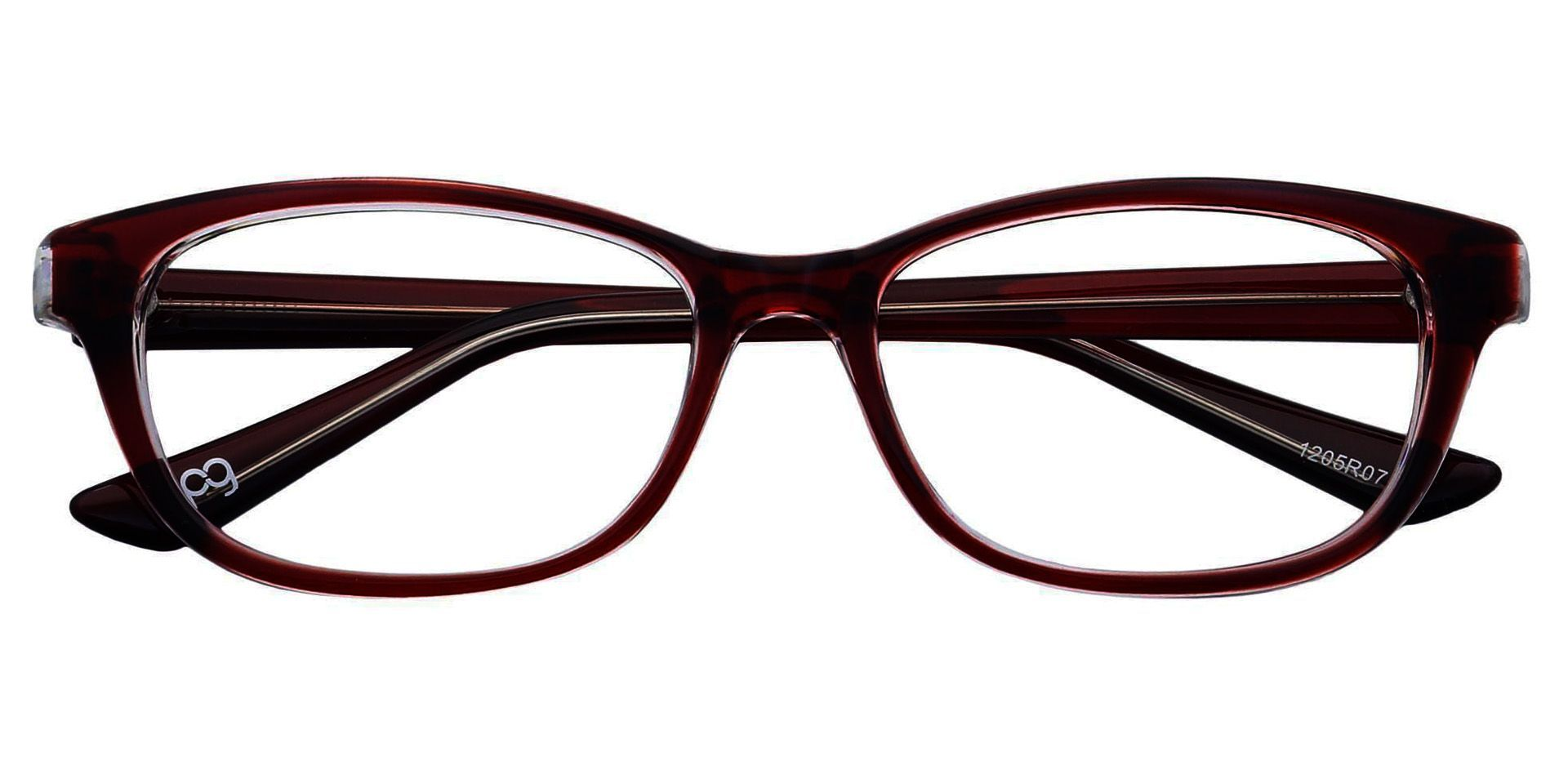 Reyna Classic Square Progressive Glasses - Red