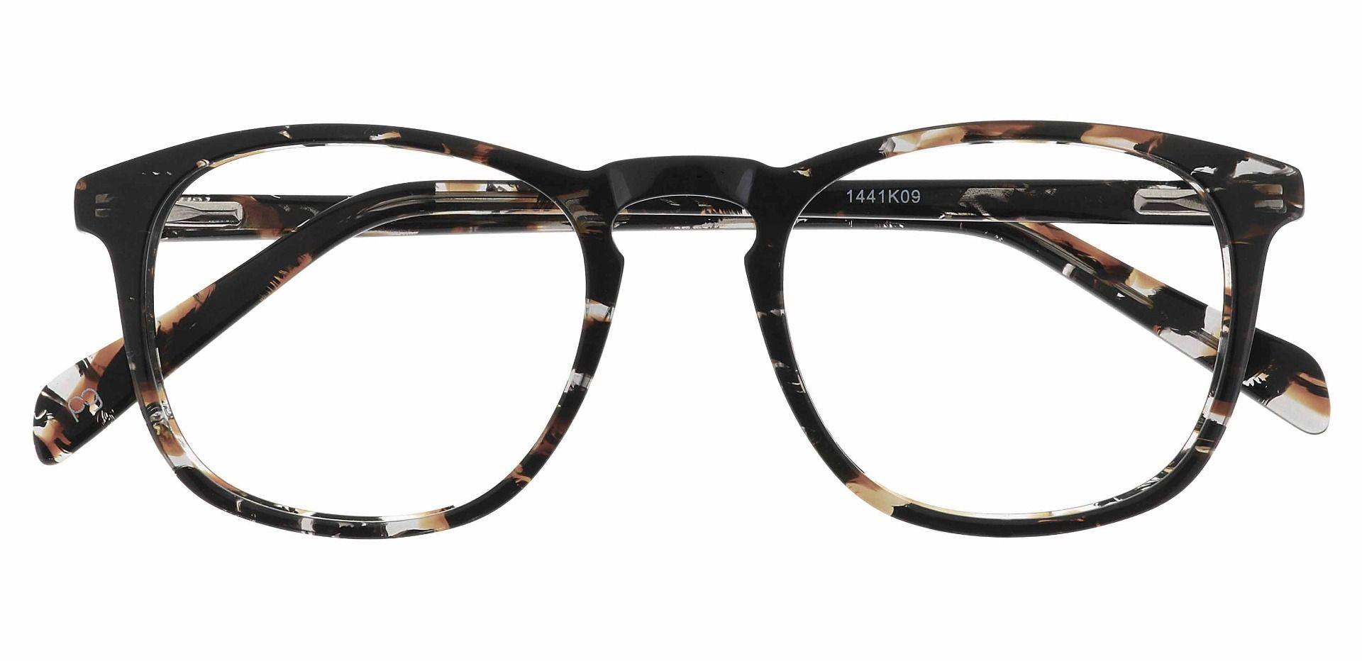 Venti Square Blue Light Blocking Glasses - Black