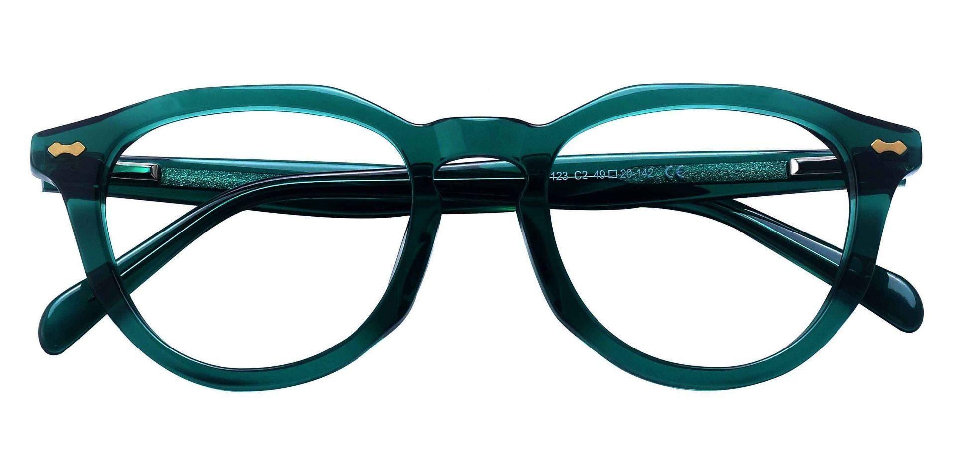 Rialto Round Prescription Glasses - Green