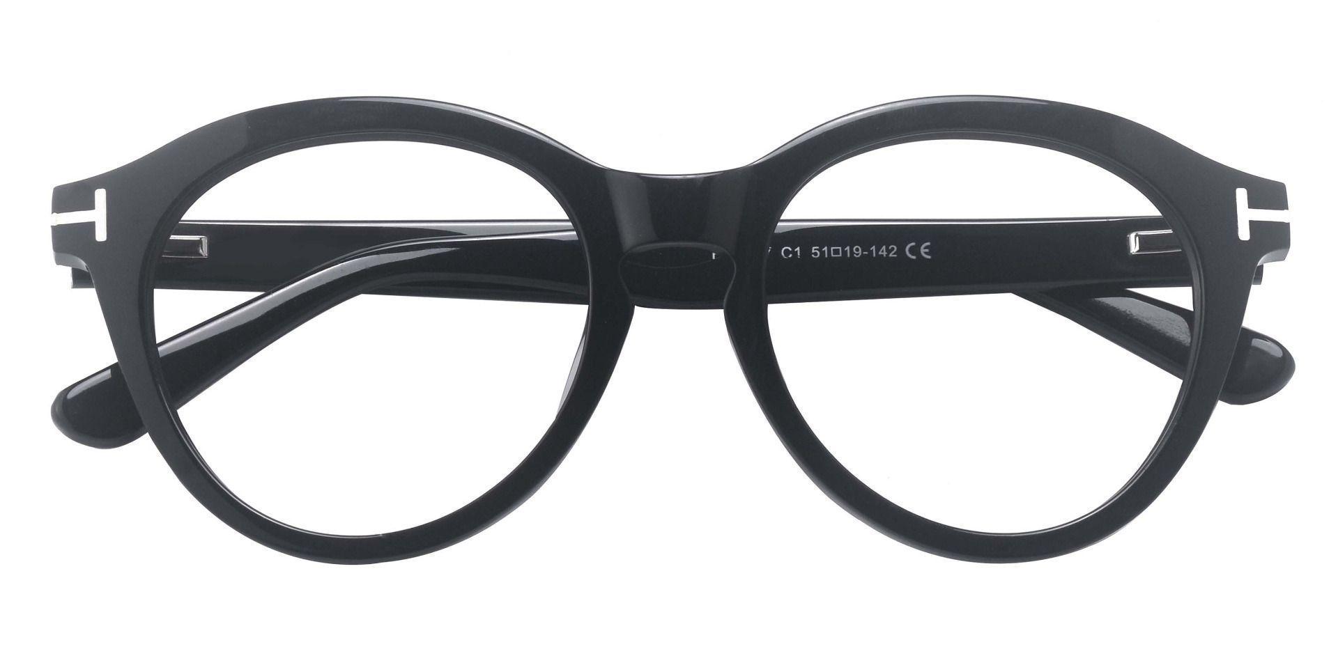 Hayden Round Prescription Glasses - Black