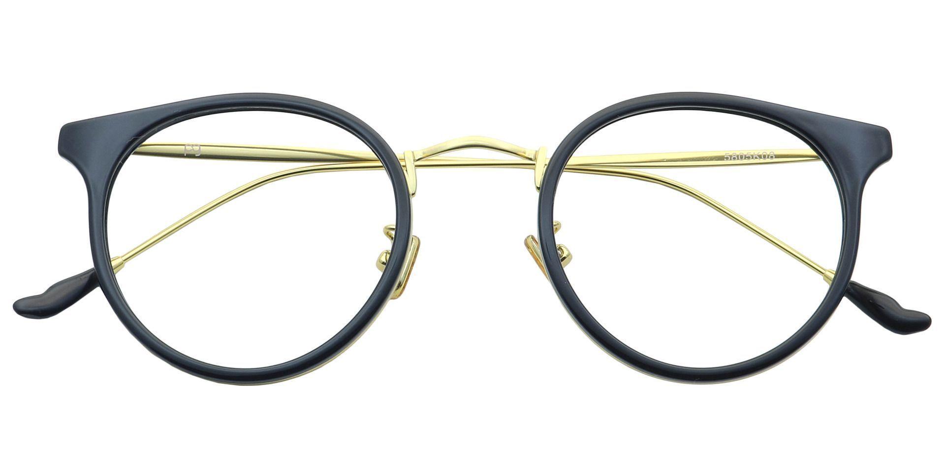 Schenley Round Non-Rx Glasses - Black