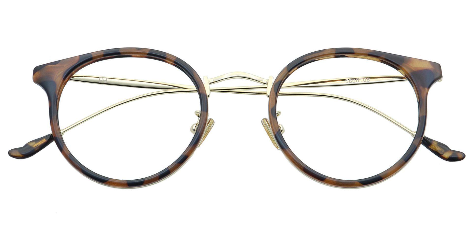 Schenley Round Blue Light Blocking Glasses - Tortoise