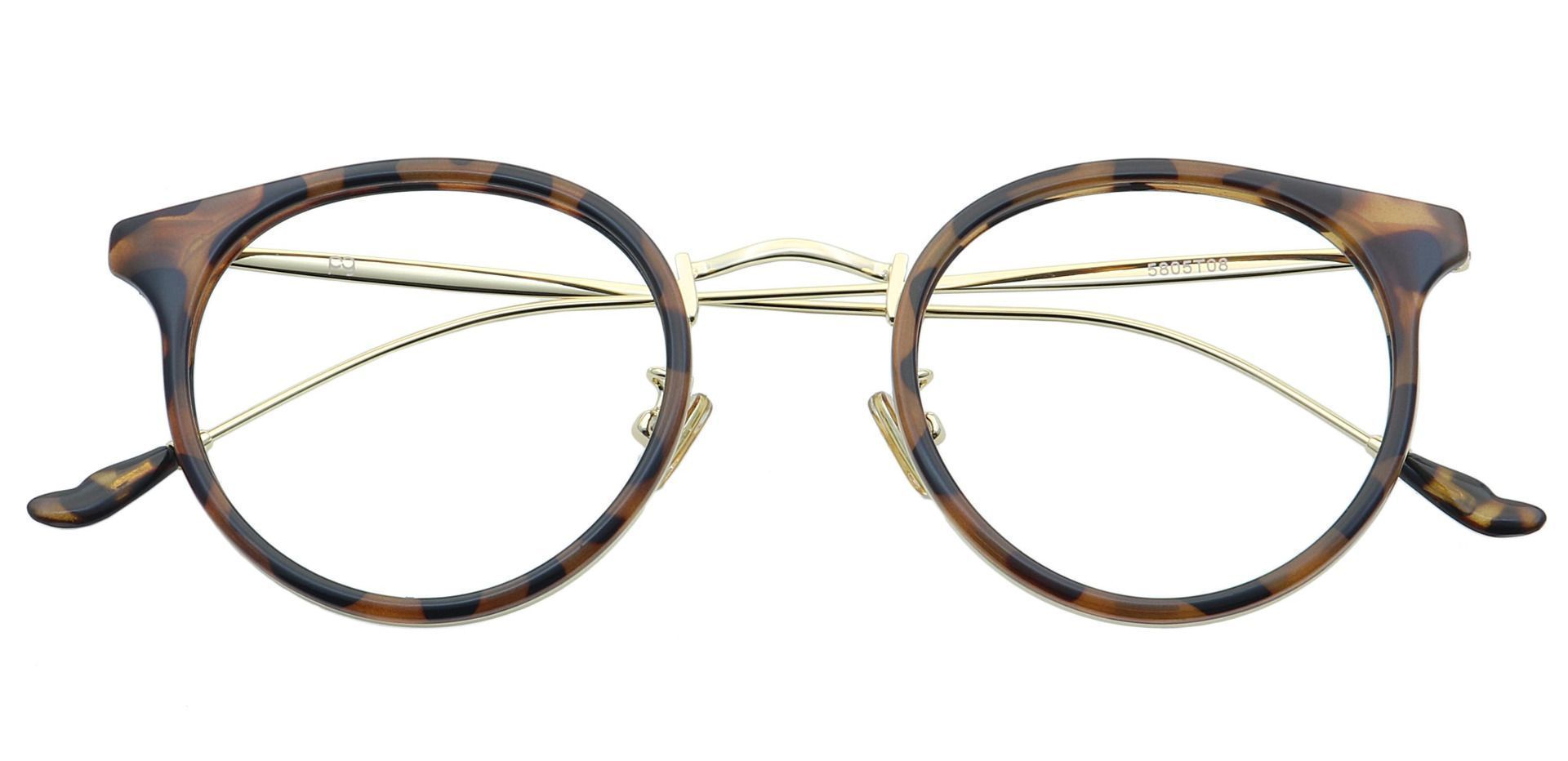 Schenley Round Prescription Glasses - Tortoise