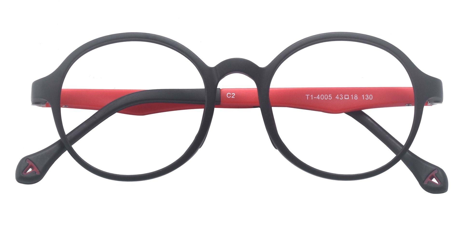Falcon Oval Prescription Glasses - Black
