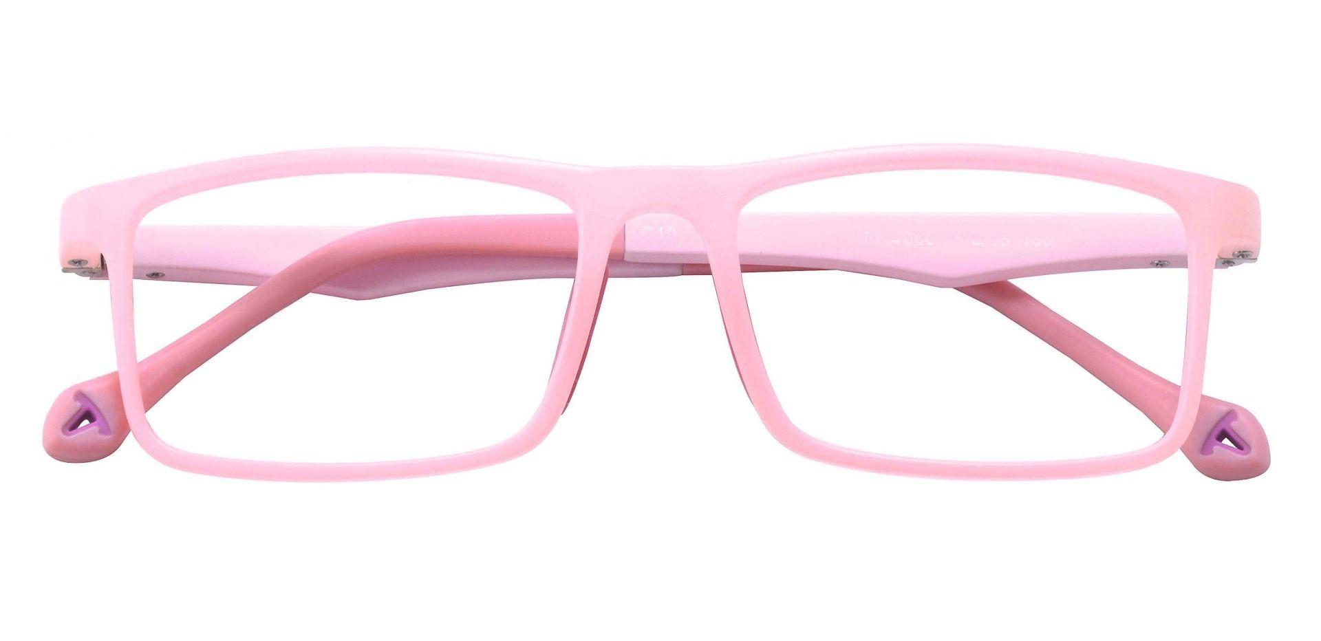 Charter Rectangle Prescription Glasses - Pink