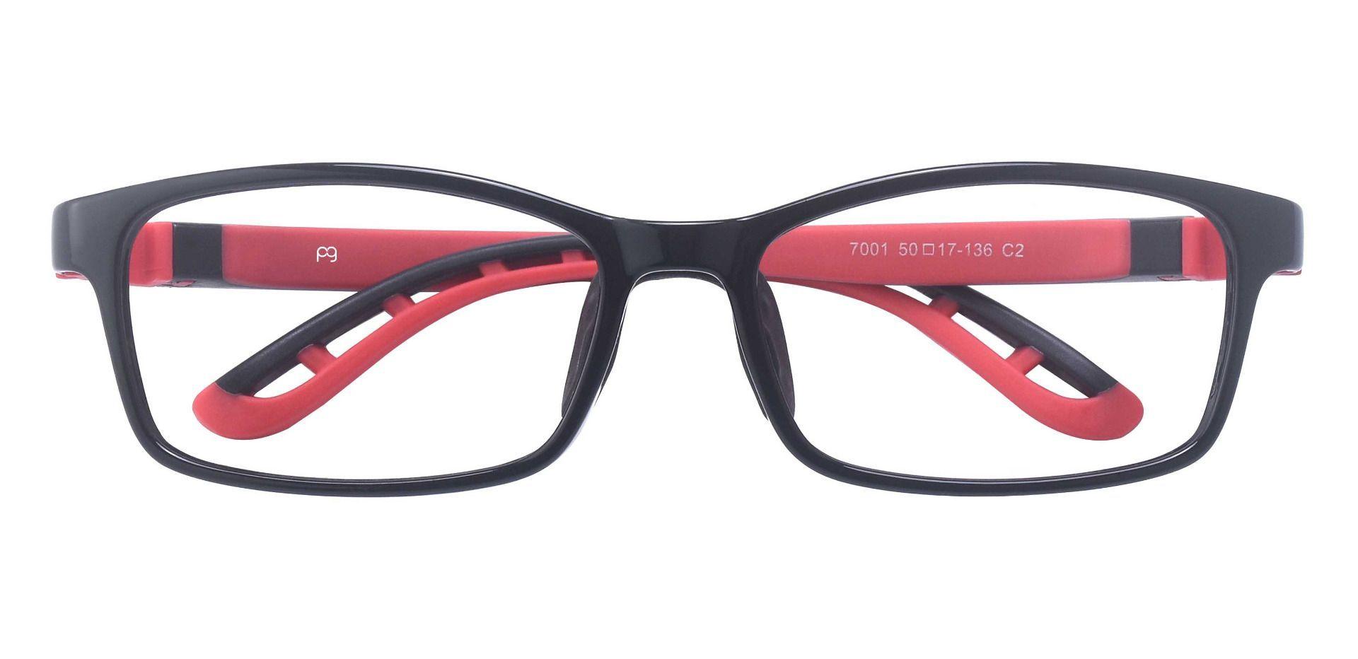 Rocky Rectangle Prescription Glasses - Black