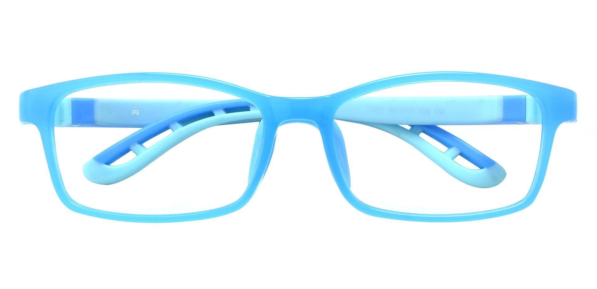 Rocky Rectangle Prescription Glasses - Blue