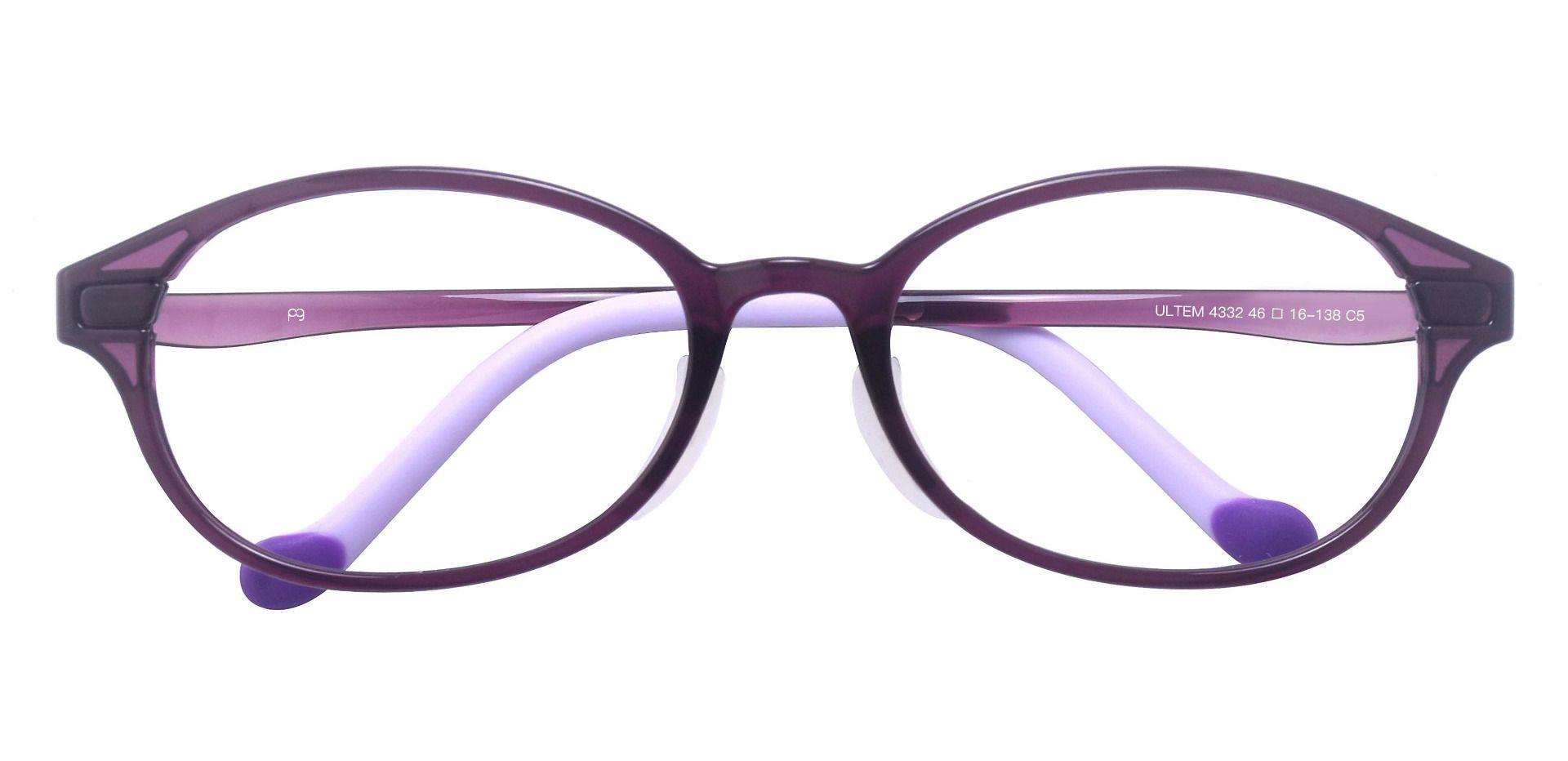 Taylor Oval Prescription Glasses - Purple