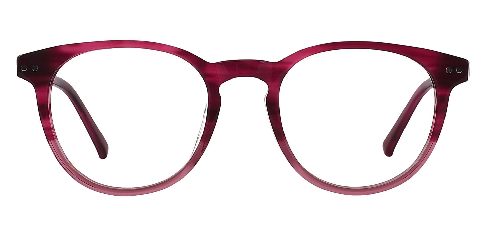 Marianna Oval Progressive Glasses - Red