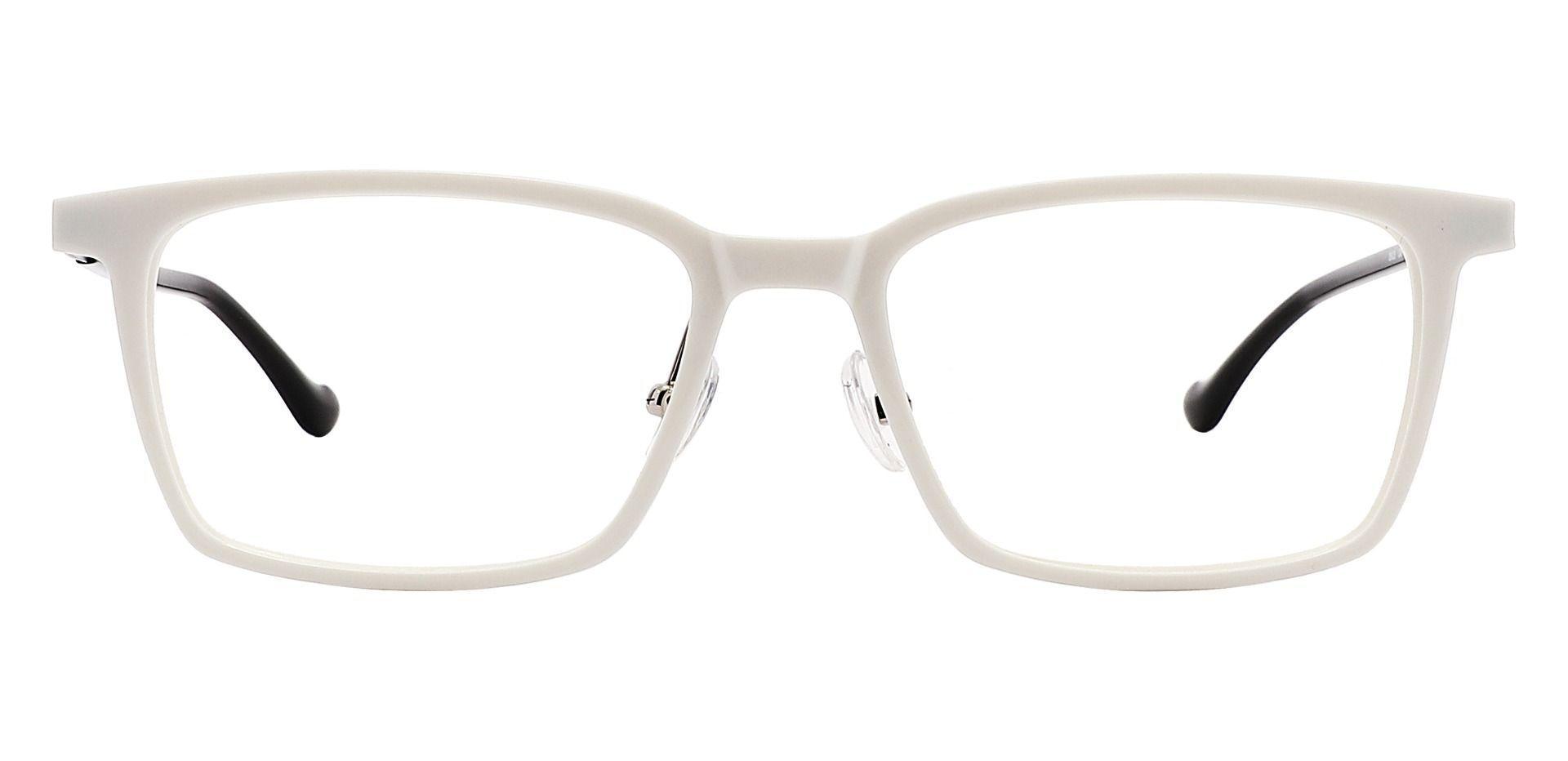 Panama Rectangle Reading Glasses - White