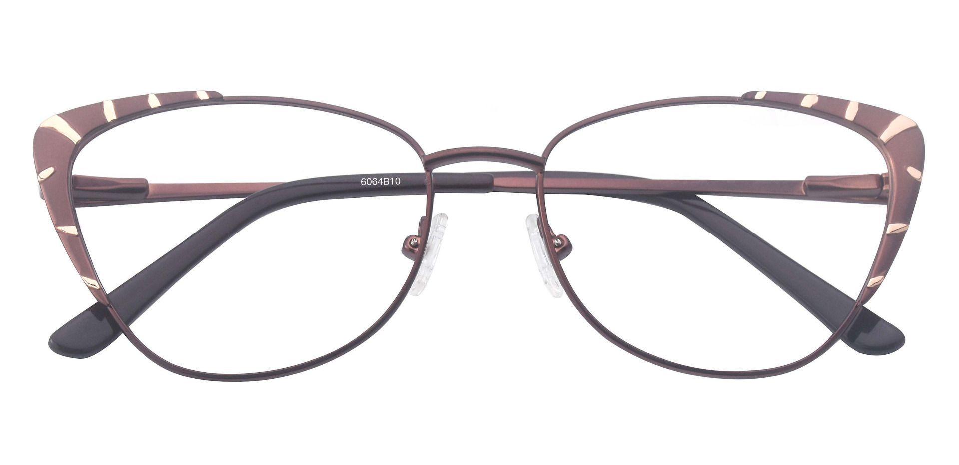 Gabrielle Cat Eye Lined Bifocal Glasses - Brown