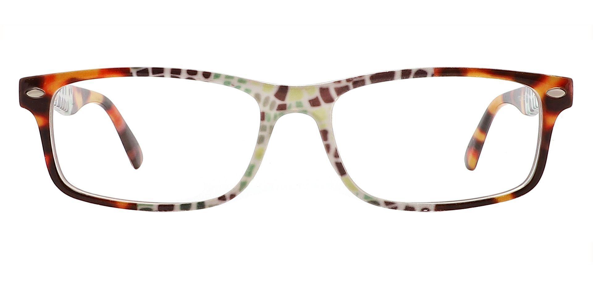 Elfrida Rectangle Lined Bifocal Glasses - Floral