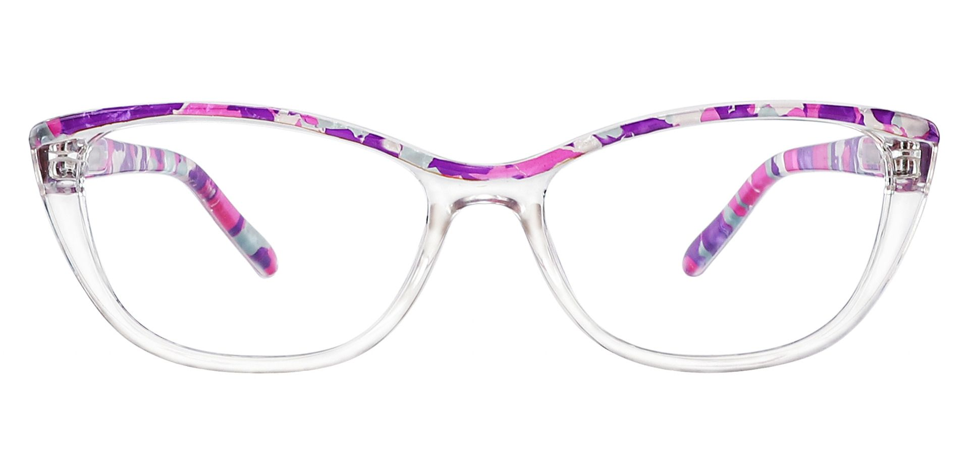 Florence Cat Eye Eyeglasses Frame - Purple