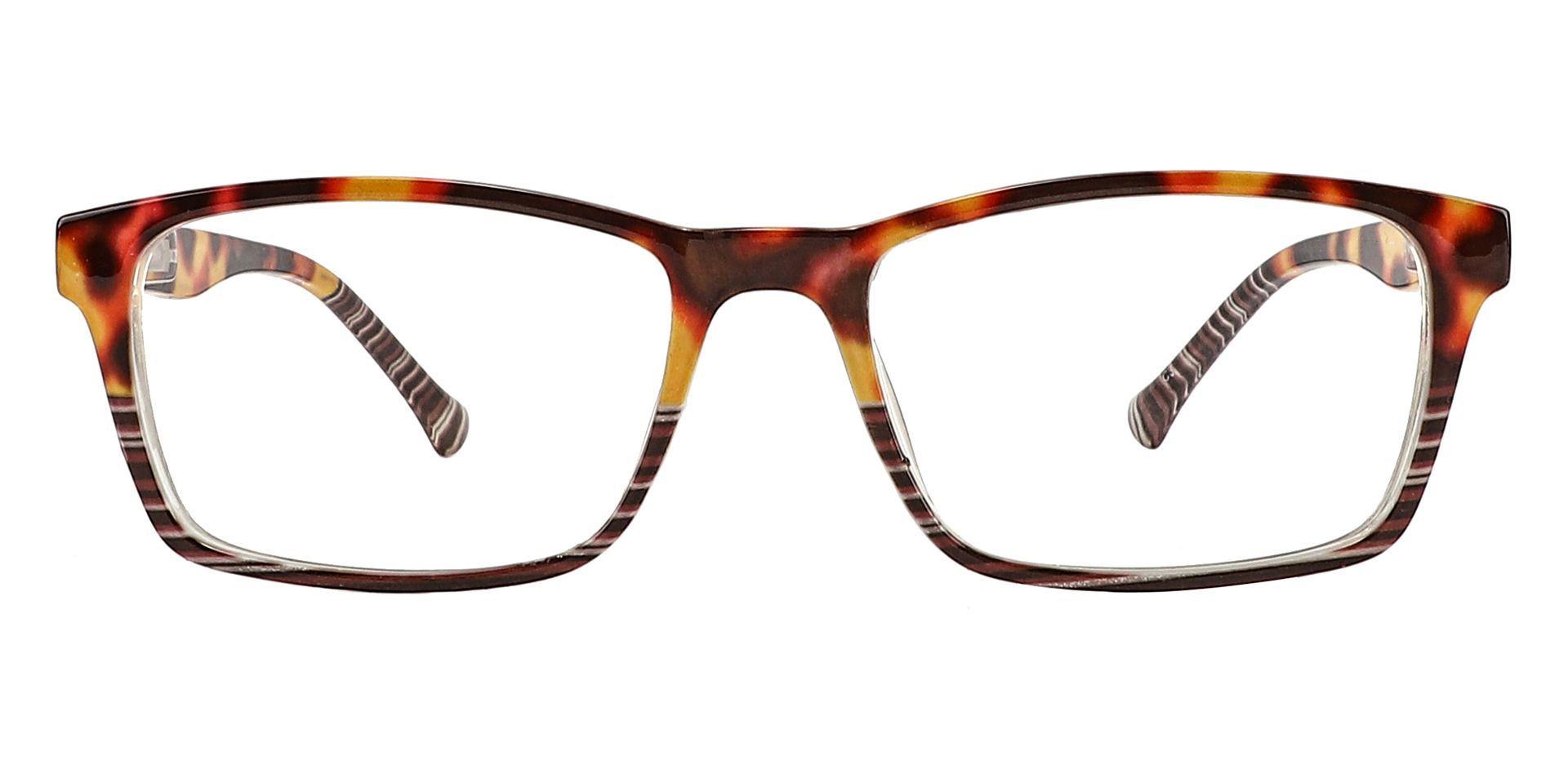 Booth Rectangle Blue Light Blocking Glasses - Tortoise