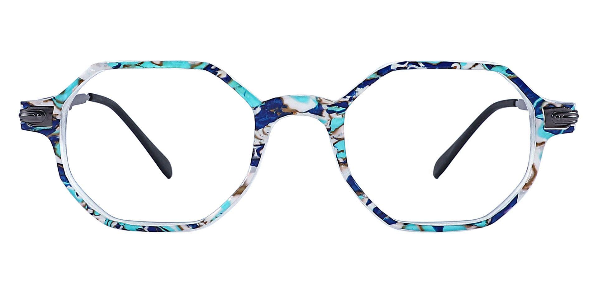 Bogart Geometric Progressive Glasses - Blue