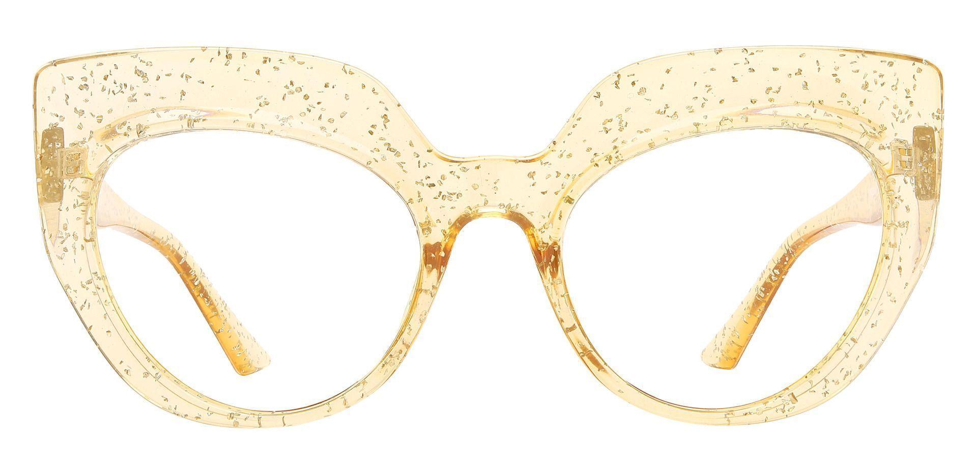 Starlight Cat Eye Single Vision Glasses - Brown
