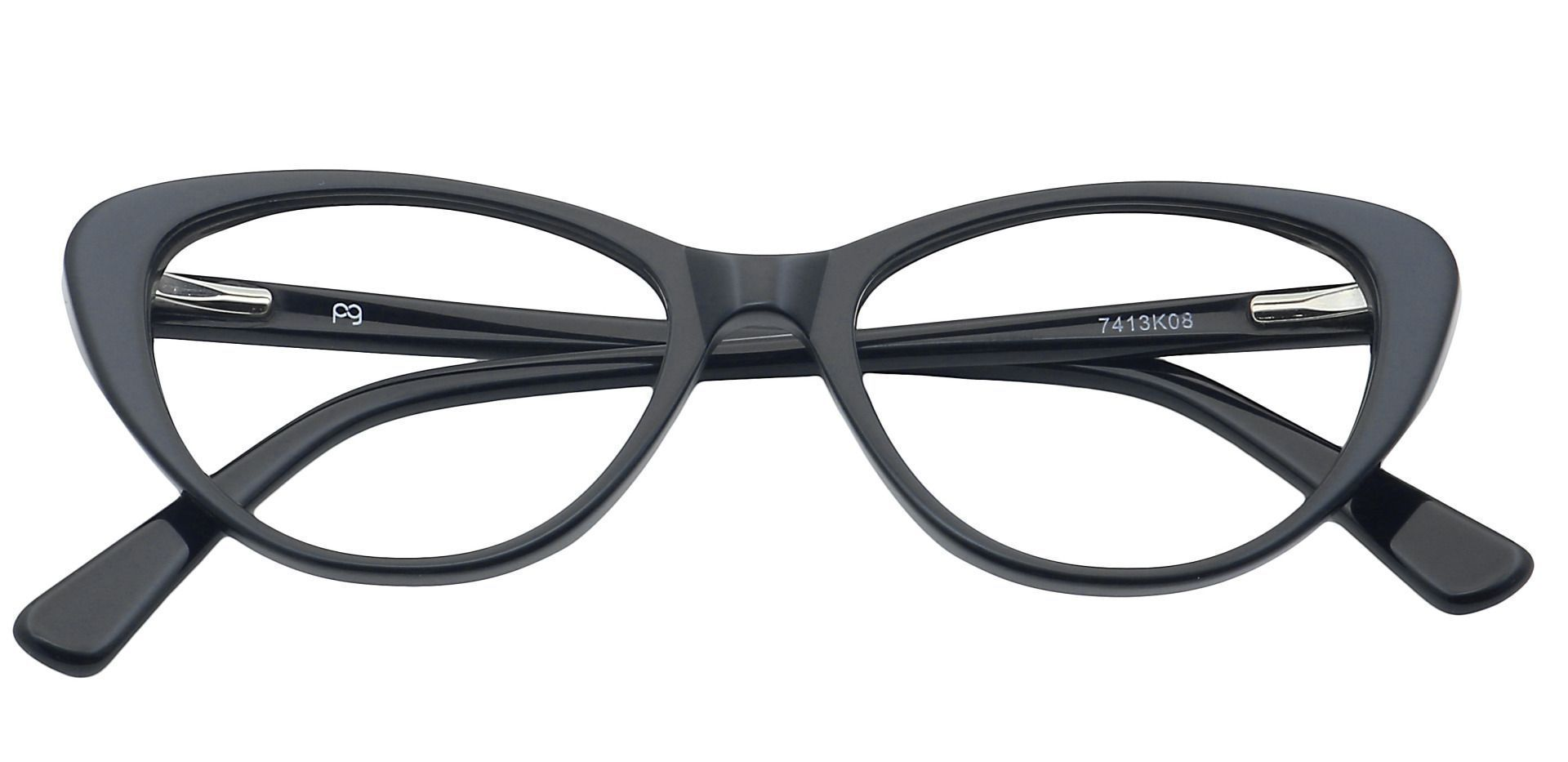 Cacia Cat-Eye Single Vision Glasses - Black
