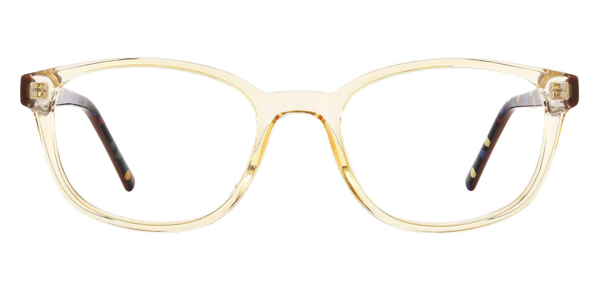 Branson Rectangle Prescription Glasses - Brown