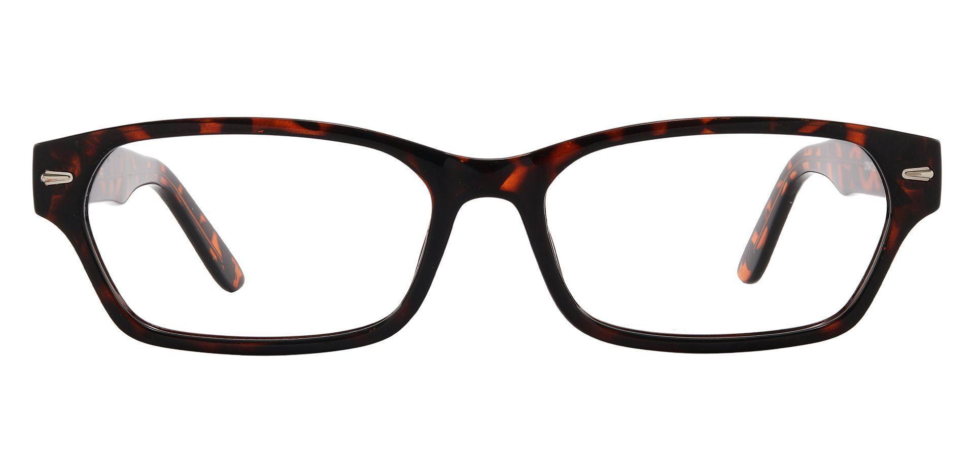 Wagner Rectangle Prescription Glasses - Dark Havana