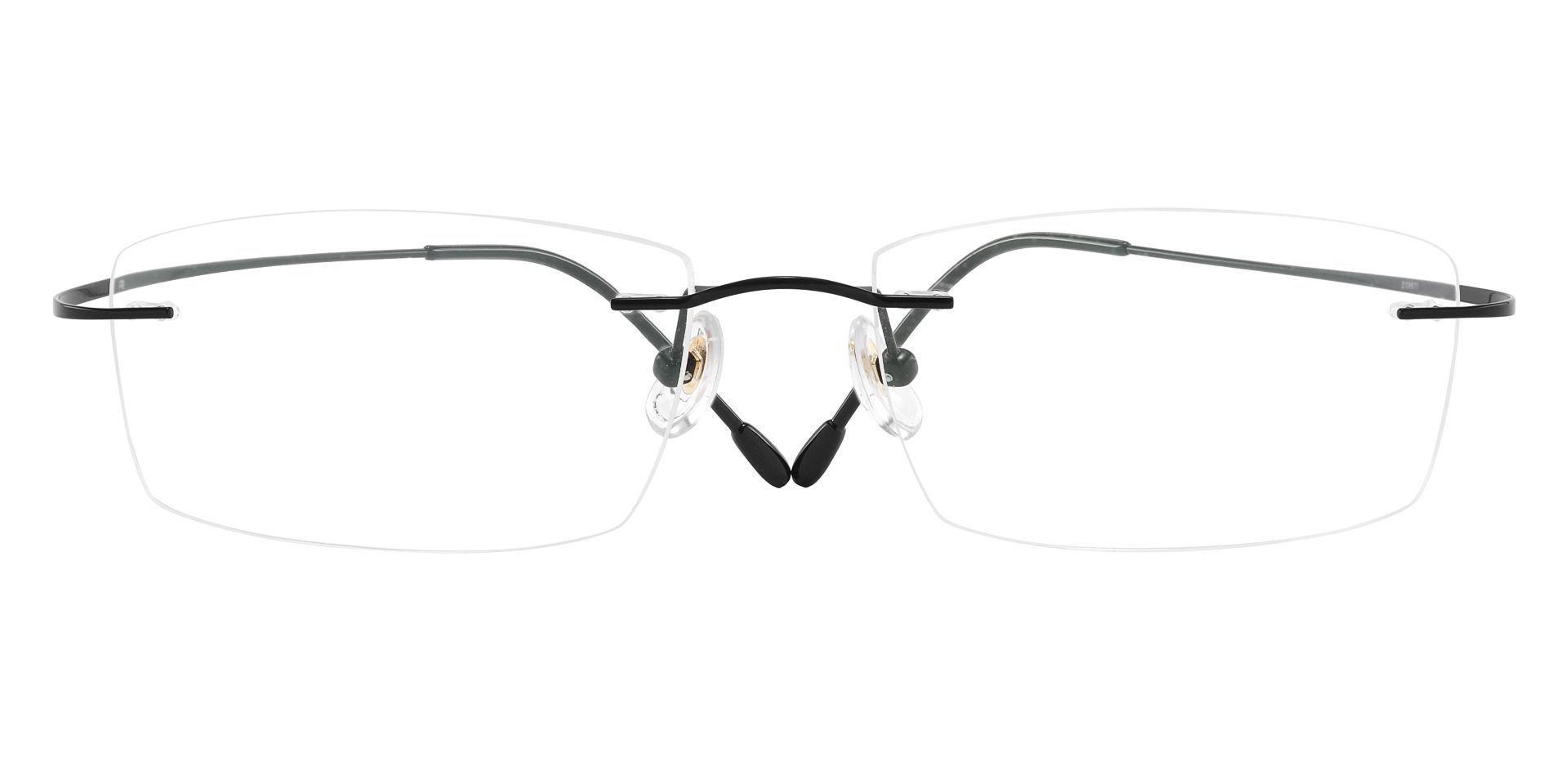 Theodore Rimless Prescription Glasses - Black