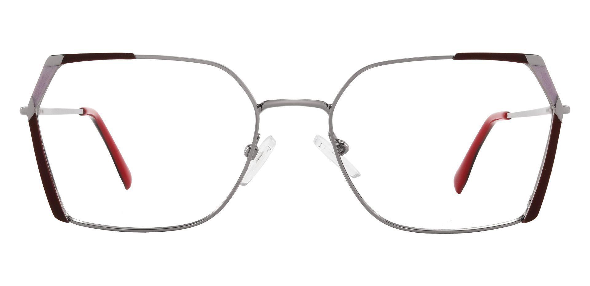 Beverly Geometric Prescription Glasses - Red