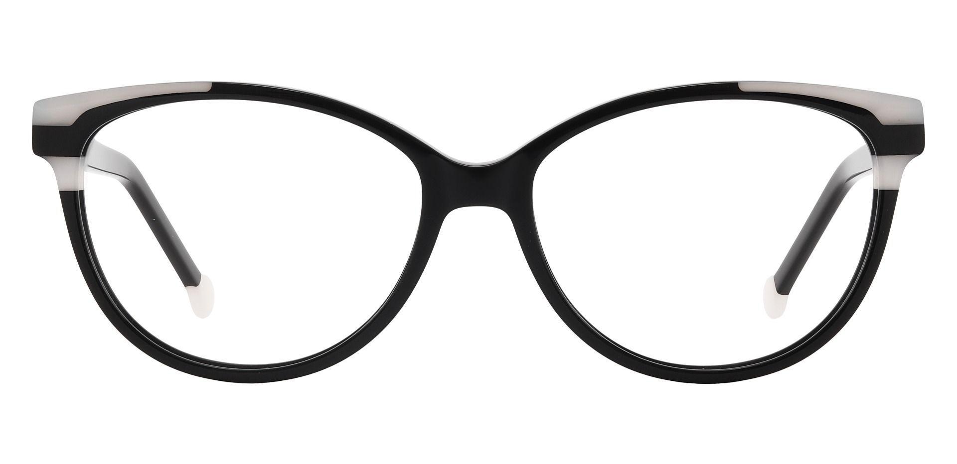 Wisdom Cat Eye Prescription Glasses - Black