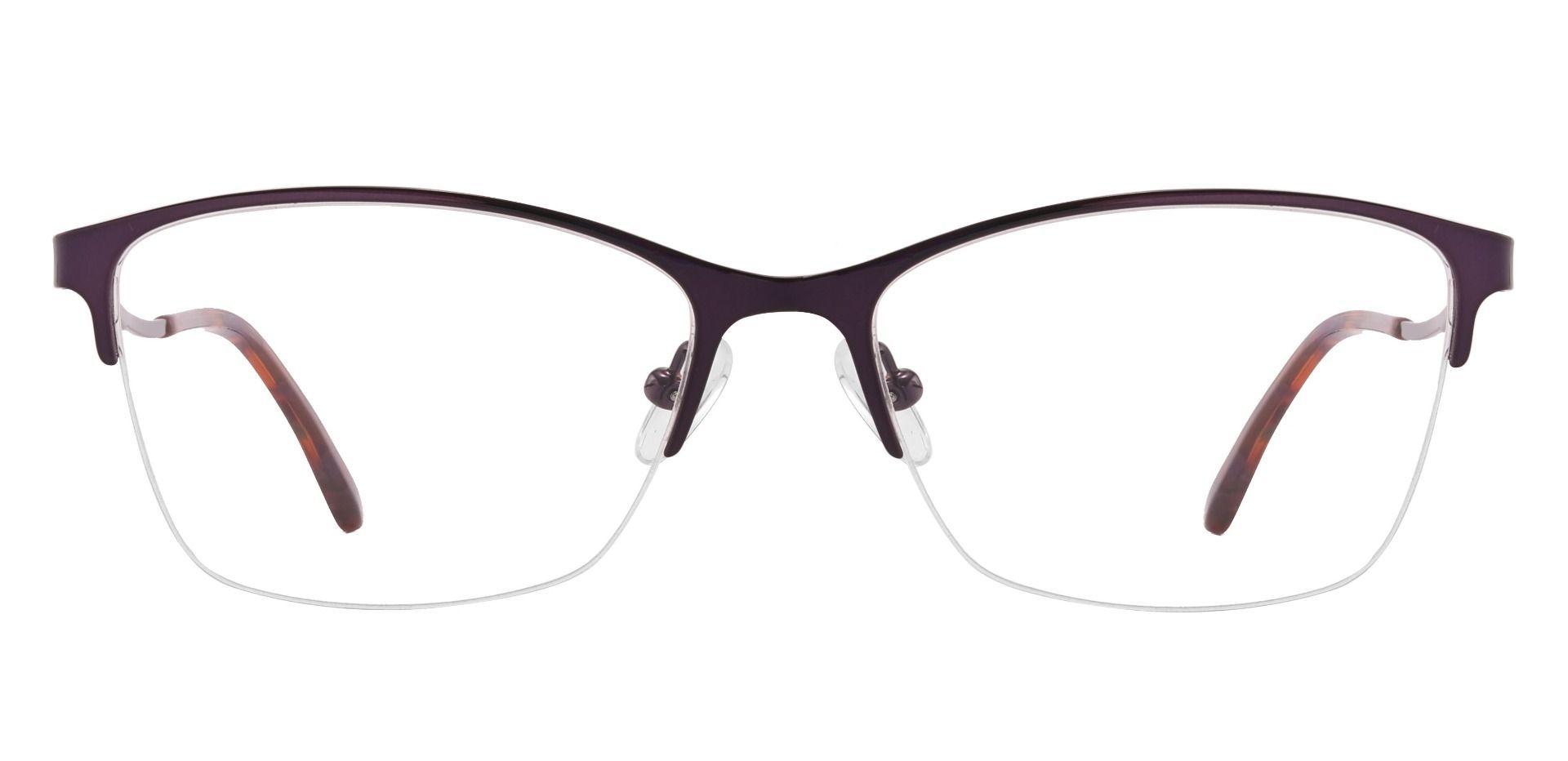 Milan Browline Prescription Glasses - Purple