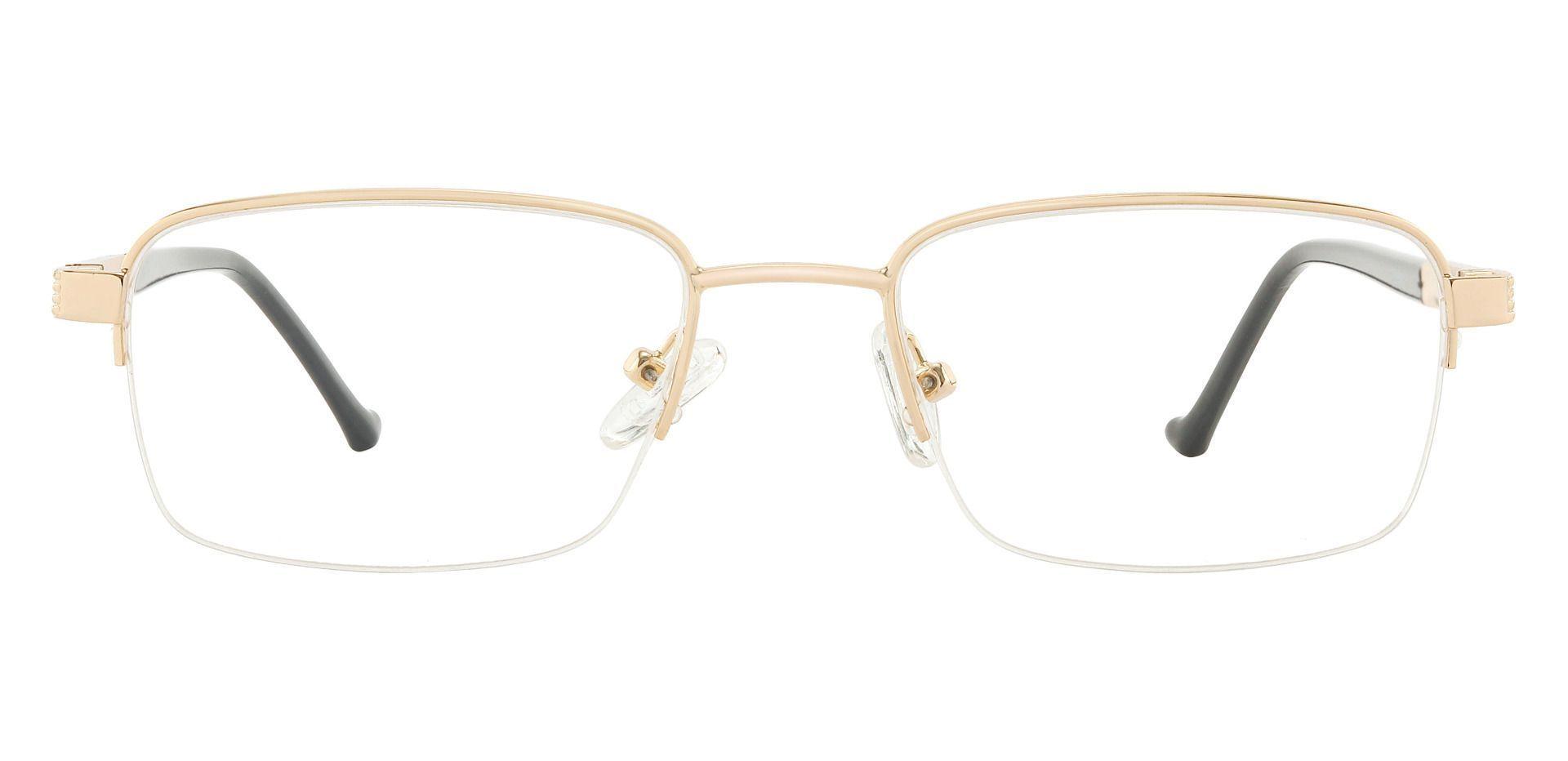 Canton Rectangle Prescription Glasses - Gold