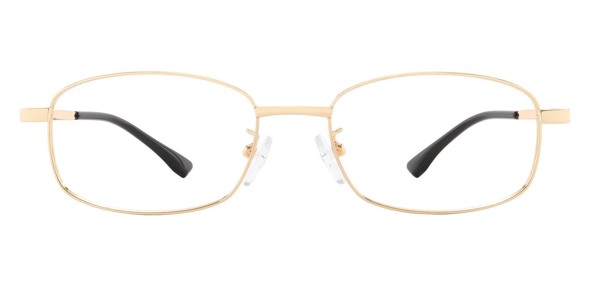 Barrett Rectangle Prescription Glasses - Gold