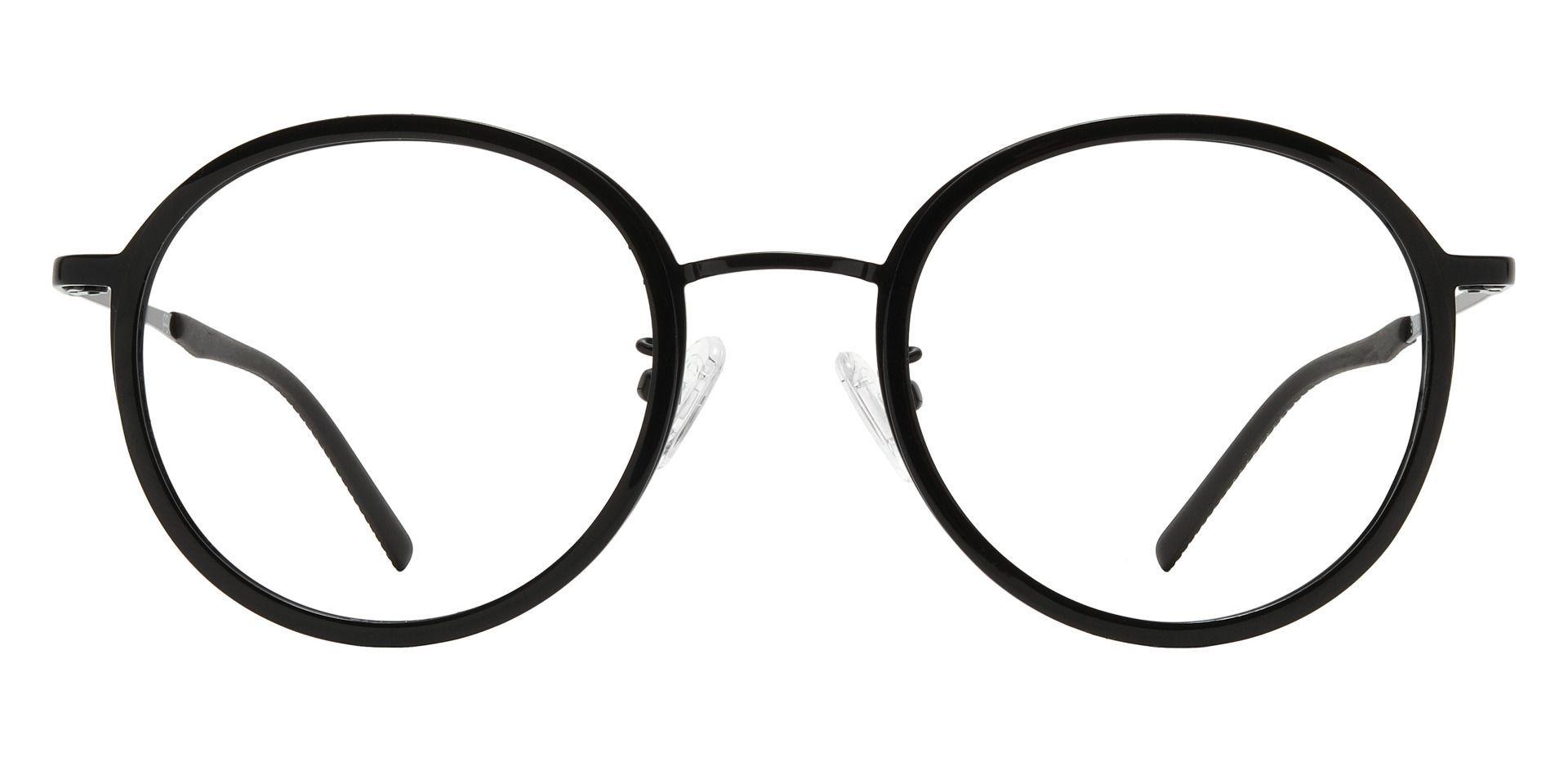 Brunswick Round Prescription Glasses - Black