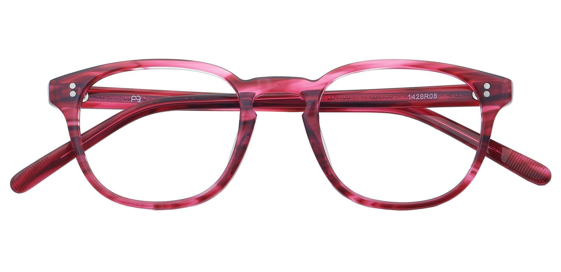 Nevada Square Reading Glasses - Red