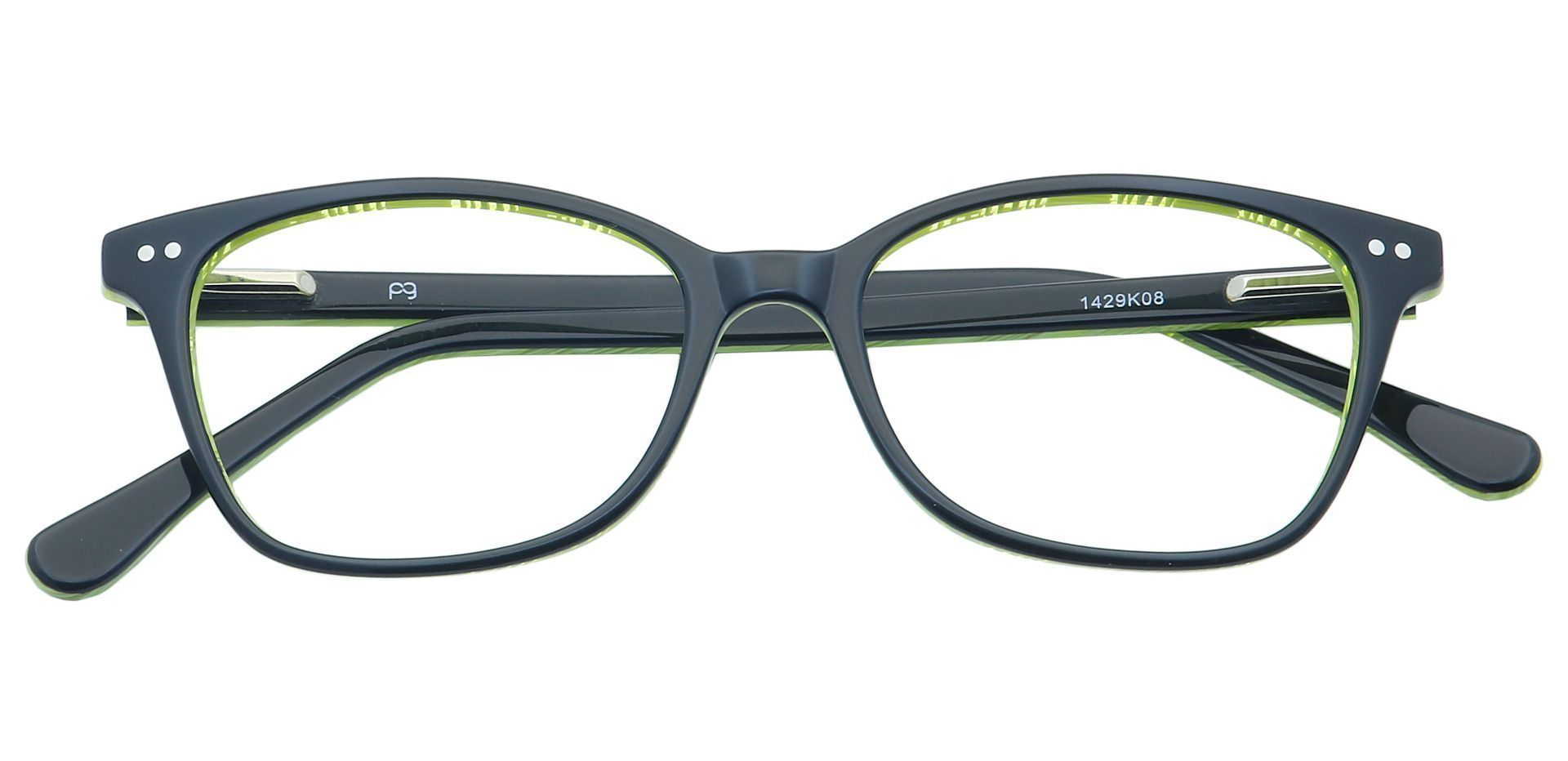Bronwyn Classic Square Non-Rx Glasses - Black