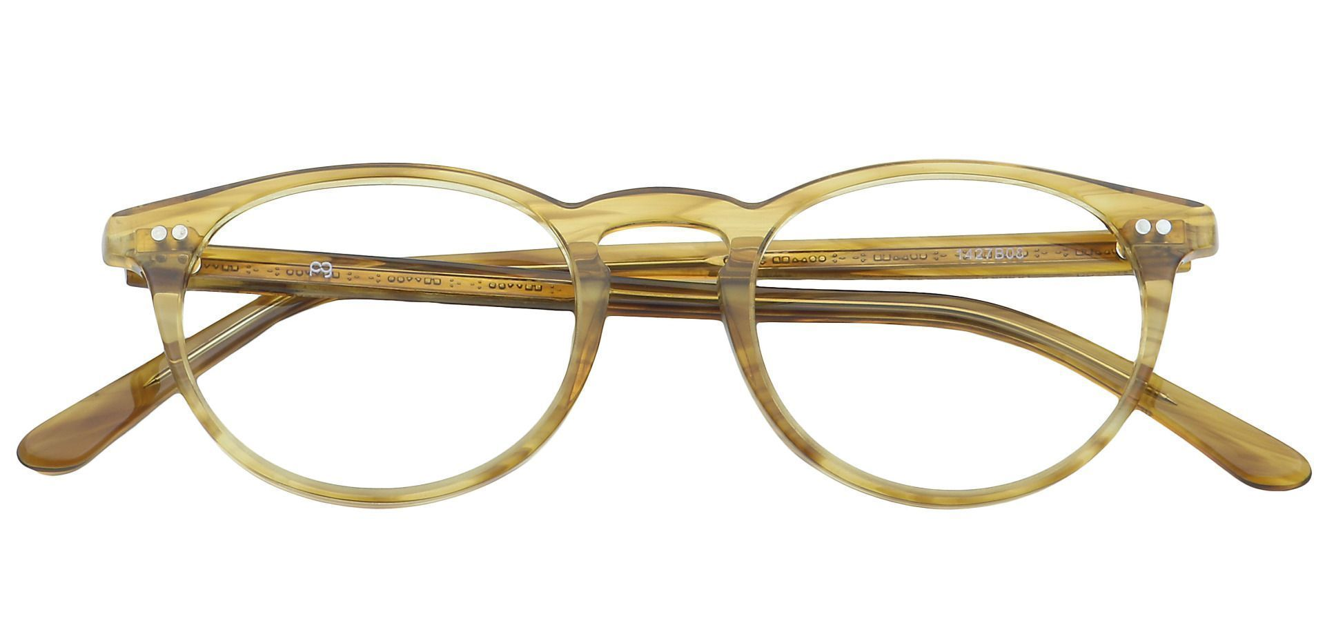 Marley Oval Prescription Glasses - Brown