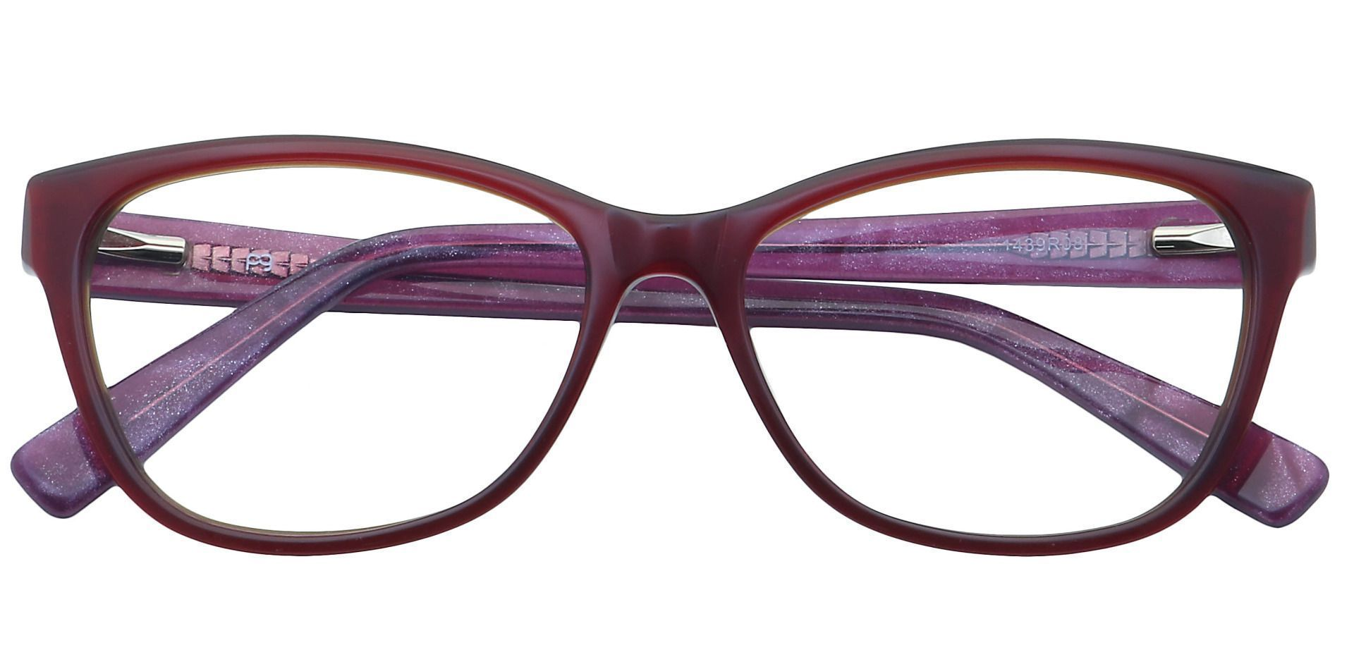 Geneva Square Prescription Glasses - Red