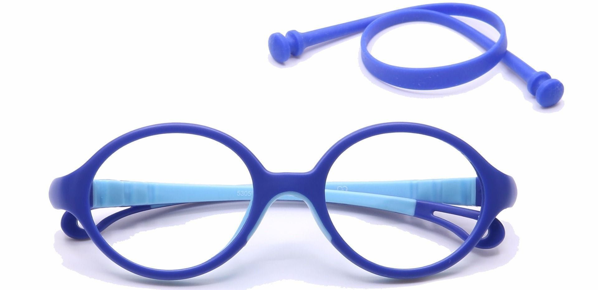 Whimsy Oval Reading Glasses - Blue/aqua
